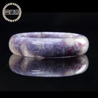 【富藏居】天然紫鈦晶極光梅花碧璽現象通透晶體完美手鐲(19圍)