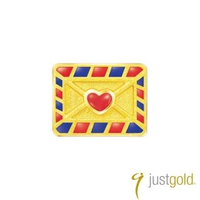 【Just Gold 鎮金店】Hello Kitty 旅行家純金系列 黃金單耳耳環-信封