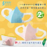 【YSH益勝軒】台灣製 幼幼1-4歲醫療3D立體口罩50入/盒X2盒(藍色.粉色兩色可選)