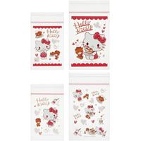 小禮堂 Hello Kitty 迷你透明夾鏈袋組 塑膠密封袋 分裝袋 (20入 紅 鬆餅)