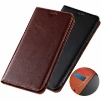 Genuine real leather magnetic holster card holder cases for Google Pixel 5/Google Pixel 5 XL/Google Pixel 5A phone bag cover