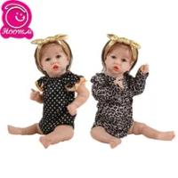"Twin Sisters Full Body Silikon Reborn Boneka Bayi Mainan 23 ""Realistis Yang Baru Lahir Bayi Boneka untuk Anak Teman Bermain"
