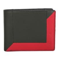 【agnes b.】附零錢袋雙折短夾(綠配紅)