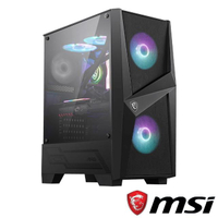 【MSI 微星】MAG FORGE 100R 電腦機殼(水冷/側透/RGB風扇/附ARGB LED HUB)