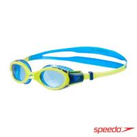 【SPEEDO】兒童運動泳鏡 Futura Biofuse Flexiseal(萊姆綠/藍)
