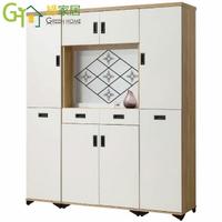 【綠家居】奧可 時尚5.3尺雙色屏風雙面櫃/玄關櫃