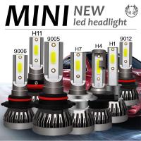 Lucky H1 H4 H7 H11 9012 9006 Mini1 72W LED車燈 汽車大燈 燈泡 9000LM