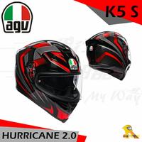 任我行騎士部品 AGV K5S HURRICANE 2.0 黑紅 亞洲版 全罩 安全帽 玻璃纖維 內墨片 除霧片