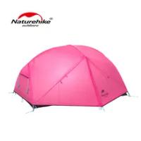 Naturehike 210T Mongar 2-3คน Camping ไนลอนผ้า Double Layer Ultralight กลางแจ้งเต็นท์กันน้ำ NH19M002-J