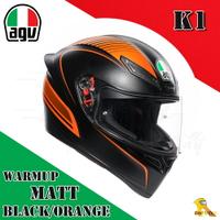 ~任我行騎士部品~AGV K1 亞洲版日規 單鏡片 全罩 安全帽 #WARMUP MATT BLACK ORANGE