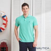 【NAUTICA】清新亮色吸濕快乾短袖POLO衫(薄荷綠)