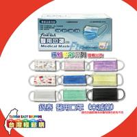 【釩泰Finetech】雙鋼印醫用成人口罩(50片/盒)(粉紅色/粉紫色/粉藍色/灰色-隨機出貨)
