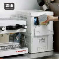 【SHIMOYAMA 日本霜山】工業風耐重摺疊置物收納箱-19L-2色可選(工業風 收納箱 整理箱 露營)