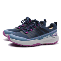 SKECHERS【128067NVLV】GO TRAIL JACKRABBIT 越野慢跑鞋 防潑水 藍灰紫 女生尺寸