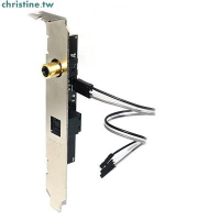 特惠★通用主板SPDIF光纖同軸子卡數字擋板鍍金接口源碼輸出DTSAC3LPCM