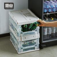 【日本霜山】工業風耐重摺疊置物收納箱-19L-2色可選 (工業風 收納箱 整理箱 露營)