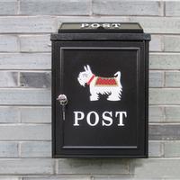 【PUSH!居家生活用品】英倫風小狗個性化信箱郵箱郵筒報紙箱(I51)