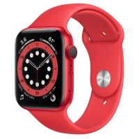 【血氧偵測-98折現貨下殺】 Apple Watch S6 LTE 44mm 紅色鋁金屬-紅色運動型錶帶 神腦生活