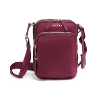 【TUMI】RUMA 側背包-莓果色