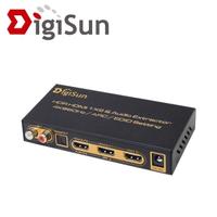【DigiSun】AHU272 4K HDMI 2.0 轉HDMI+音訊擷取器 HDMI+SPDIF+R/L