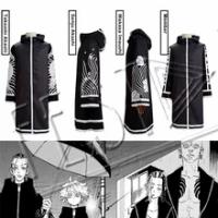 4 StylesTokyo Revengers Bonten Áo Senju Kawaragi Trang Phục Bông Tai Takeomi Akashi Wakasa Imaushi Bà La Môn Hào Kimono Áo Dây
