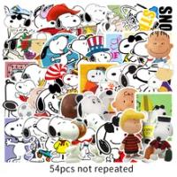 54PCS การ์ตูน Snoopy สติกเกอร์ DIY Graffiti สเก็ตบอร์ดกระเป๋าเดินทางกีตาร์กระเป๋าเดินทางแล็ปท็อปโทรศัพท์...