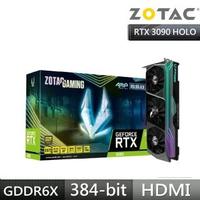 【ZOTAC 索泰】ZOTAC GAMING GeForce RTX 3090 AMP Core Holo 顯示卡
