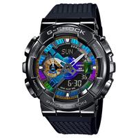 CASIO卡西歐 G-SHOCK 全金屬外殼-彩色錶盤/48.8mm (GM-110B-1A)