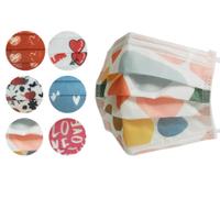 【宏瑋】成人用醫療口罩5入/包-共5款 台灣製造 ( 塗鴉色塊、愛心、藍色愛心、一箭穿心、暗黑愛心、LOVE )