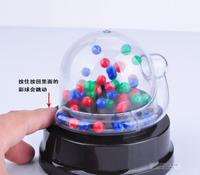 抽獎機 電動幸運數字搖獎機迷你電動骰盅搖獎機搖號機透明抽獎創意禮品