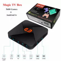 4K Magic TV Box Video Game Console Built in 5600 Games TV Game Console and andriod TV Dual system TV Box