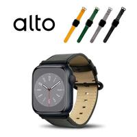 【Alto】Apple Watch 皮革錶帶 38/40mm - 渡鴉黑(真皮錶帶)