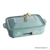 限量款聯名 Moomins 嚕嚕米 電烤盤 日本BRUNO BOE021多功能鑄鐵電烤盤(2-3人份量) 3個烤盤-平盤+六格鬆餅+章魚燒盤 禮物 日本必買代購