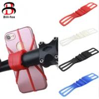 ซิลิโคนผู้ถือโทรศัพท์จักรยานสำหรับสมาร์ทโฟน Handlebar Mount รถจักรยานยนต์ผู้ถือโทรศัพท์สำหรับ iPhone ส...