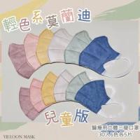 【奕綸】兒童立體醫療口罩 輕色系莫蘭迪(30入/盒 6色各5片)