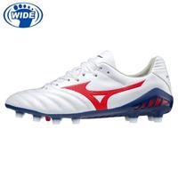 【MIZUNO 美津濃】寬楦 成人足球釘鞋 MONARCIDA NEO II PRO 白紅藍 P1GA210262(比賽鞋 草地釘鞋 頂級)