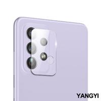 【YANG YI 揚邑】Samsung Galaxy A52 4G/5G 防爆防刮弧邊 9H鏡頭鋼化玻璃膜保護貼