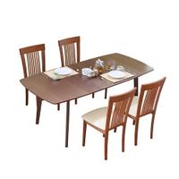 安娜可延伸實木餐桌椅組(一桌六椅)(2色)  餐桌/餐椅/實木餐桌椅【TA315+CH1020】RICHOME