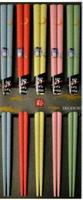 日本製【Sunlife】乾漆鴞 多彩賓客筷五入組-311882