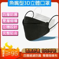 拋棄式非醫療口罩 人氣款 魚嘴型 3D立體口罩 四層防護 熔噴布 過濾95% PM2.5 配戴舒適