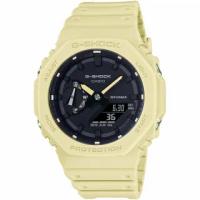 【CASIO 卡西歐】G-SHOCK 八角農家橡樹雙顯手錶(GA-2100-5A)