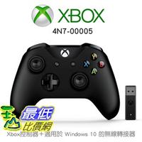[8美國直購] 【Microsoft 微軟】Xbox控制器 + 適用於 Windows 10 的無線轉接器(4N7-00005)
