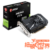 MSI 微星 GeForce GTX 1050 Ti AERO ITX 4G OCV1 顯示卡 紐頓e世界