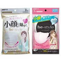 日本超夯 小顏口罩 立體口罩 抗菌 防霧霾 防花粉 防空汙 7枚入 共兩款 582058