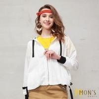 【MON'S】渡假風設計感造型連帽外套