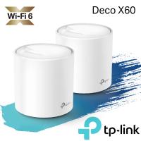 【獨家-含2入壁掛架】【TP-Link】(2入)Deco X60 AX3000 Mesh 雙頻WiFi 6網狀路由器+【市價$499】 壁掛架