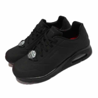 【SKECHERS】休閒鞋 Uno SR 防滑 工作鞋 女鞋 氣墊 耐油 光滑耐用合成鞋面 黑(108021-BLK)