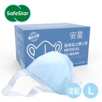 【安星】醫療級3D立體口罩 淺藍50入盒裝 L