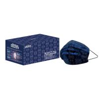 萊潔 醫療防護成人口罩-藍絲綢(50片入/盒)