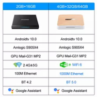Mecool KM6 deluxe Amlogic S905X4 Android 10 TV BOX Google Certified TVBOX 4GB 64GB Support Wifi6 AV1 BT5.0 4K Set Top Box 2G 16G
